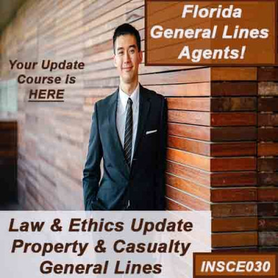 Florida - 5HR LAW & ETHICS UPDATE PACKAGE - PROPERTY AND CASUALTY (5-220) (INSCE030FL9c)